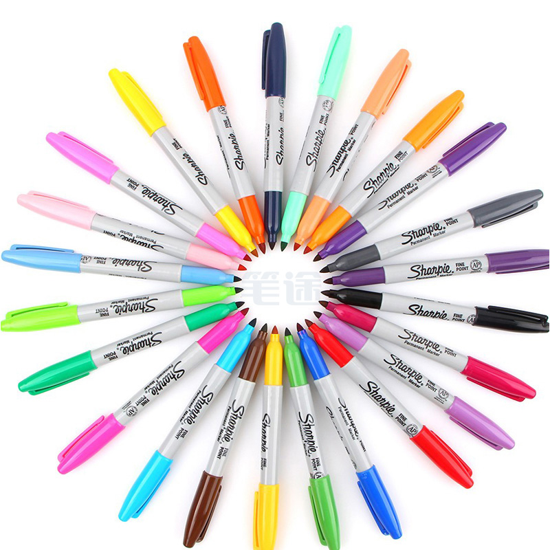 美国三福记号笔 sharpie油性工业标记笔无尘室用打点笔30001 1.0mm