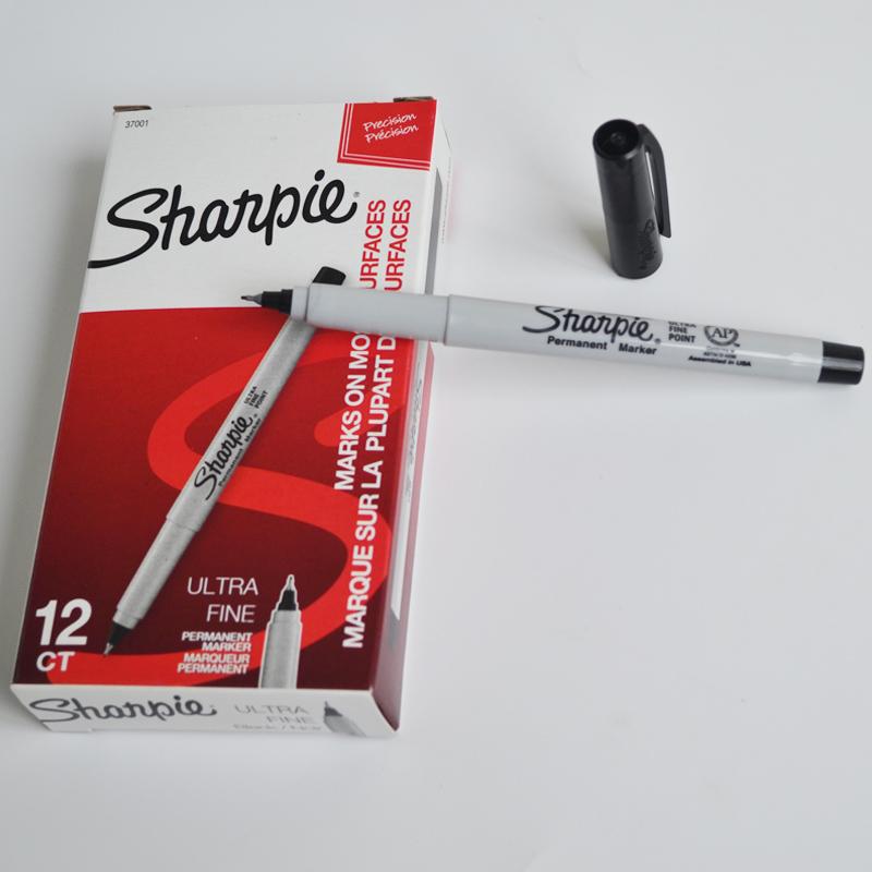美国三福极细记号笔 sharpie油性极细无尘室用标记笔 彩绘马克笔37001
