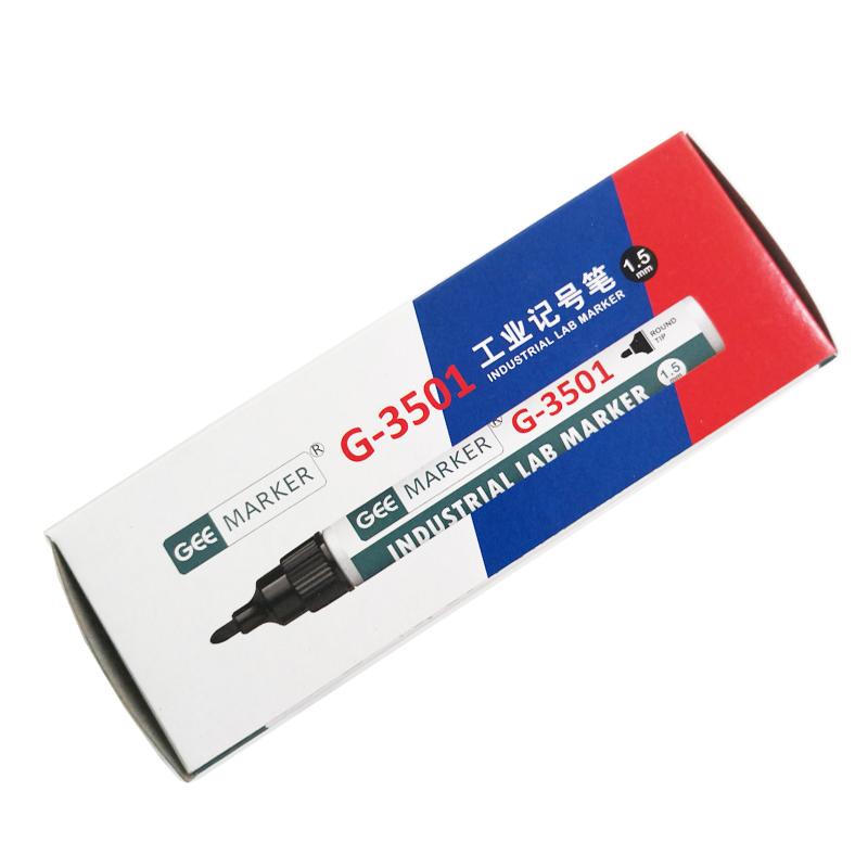 geemarker功意实验室耐医用酒精记号笔 油性试管标记笔G-3501