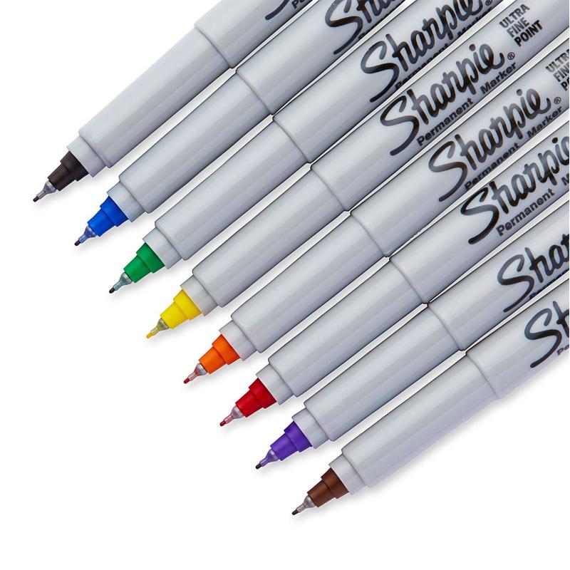 美国三福sharpie记号笔极细油性无尘室用标记笔 工业记号笔37001 0.5mm