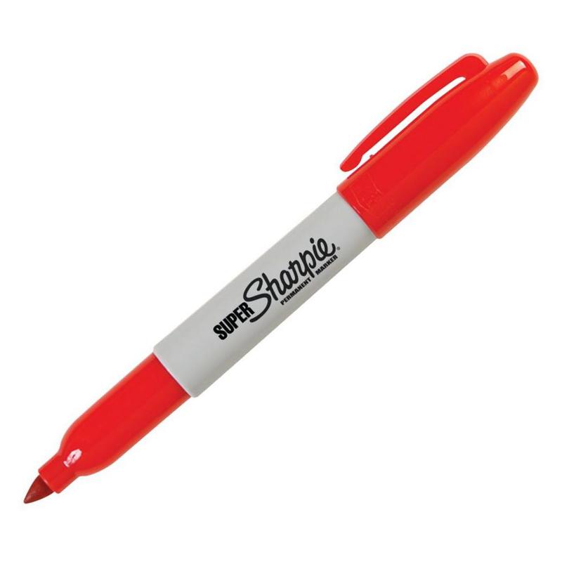 美国三福特粗工业记号笔Sharpie super油性打点标记笔33001  2.0mm