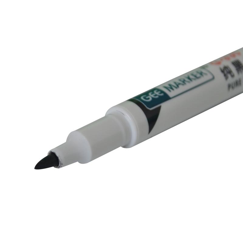 geemarker纯黑色速干PCB线路板工业油性记号笔 光学镜片标记不泛红 极黑色标记笔G-330