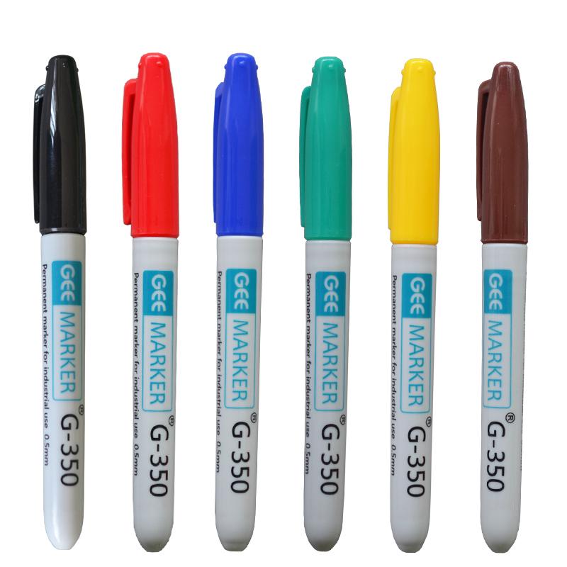 geemarker功意工业记号笔 耐高温低温极细油性环保打点标记笔 实验室记号笔G-350 0.5mm